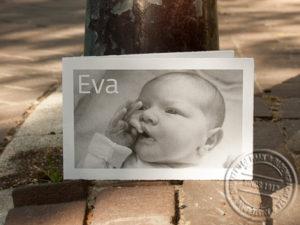 Oudhollands geboortekaartje met foto