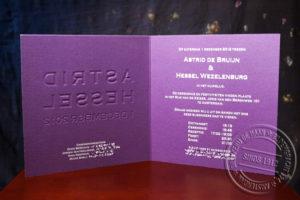 huwelijkskaart met diapositieve tekst