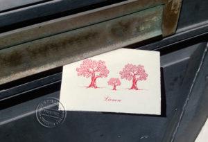 geboortekaartje met bomen
